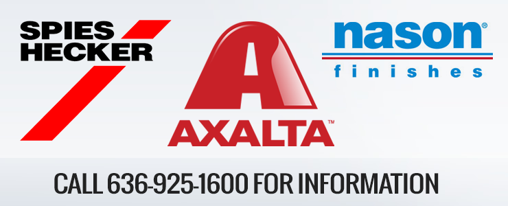 Call 636-925-1600 for info about Spies Hecker, Axalta, Nason products.